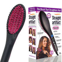 TV-hot-simply-straight-ceramic-electric-degital-control-antiscaled-brush-fast-hair-straightener-brush-comb-irons