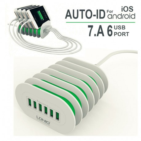 ldnio-6-usb-port-7a-quick-desktop-auto-id-charger-stand-for-ios-anddroid-15m-cable